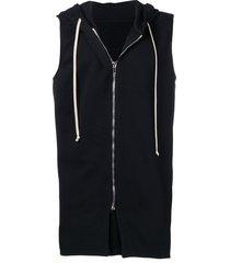 rick owens drkshdw sleeveless hooded sweatshirt - black