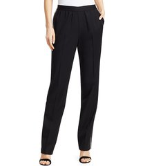 helmut lang women's framis pull-on wool pants - black - size 8