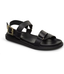 biadebbie leather strap sandal shoes summer shoes flat sandals svart bianco