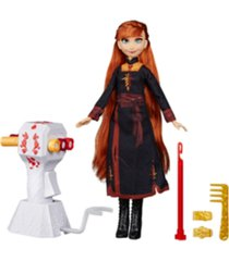 disney frozen sister styles anna fashion doll with extra-long red hair, braiding tool and hair clips