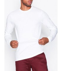only & sons onsbasic slim ls tee noos t-shirts & linnen vit