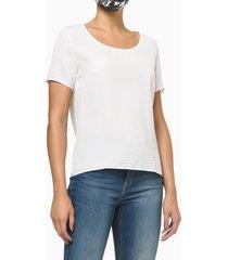 t-shirt confort calvin klein gola u - nude - 36