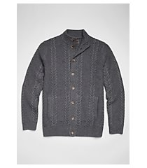 reserve collection wool blend cable knit men's sweater - big & tall