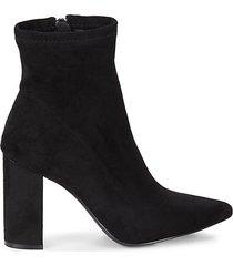 faux suede heeled sock booties
