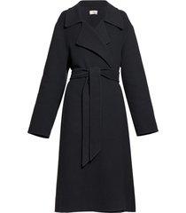 efo belted cashmere blend felt coat