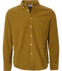 portuguese flannel lobo corduroy shirt - moss aw18009