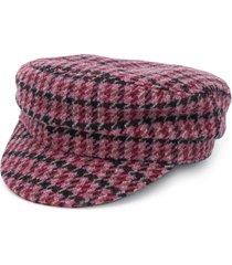 isabel marant evie houndstooth patterned cap - purple
