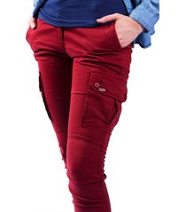 pantalon brahma mujer rojo pan0015-vit
