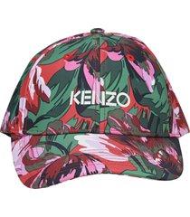 kenzo x vans floral-print logo cap