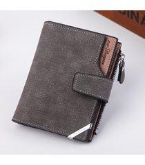 mini billetera/ billetera vertical de la hebilla de la-gris