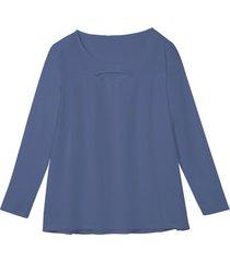 shirt, rookblauw 40