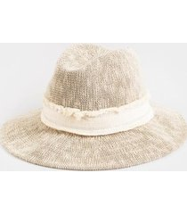 mai wide brim panama hat - cream