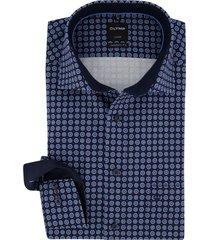 mouwlengte 7 overhemd navy geprint olymp luxor