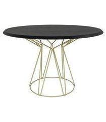 mesa jantar cost ebanizado base gold 135cm - 60260 preto