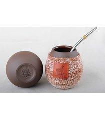 ceramiczne matero, kubek do picia yerba mate.