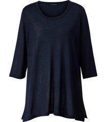 lång tröja sara lindholm marinblå