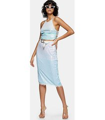 idol mint ombre sequin skirt - mint