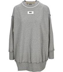 mm6 maison margiela mm6 logo patch sweatshirt