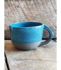 ceramiczny kubek z uszkiem 350 ml ocean blue
