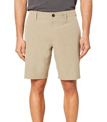 men's o'neill reserve heather hybrid water resistant swim shorts, size 28 - beige