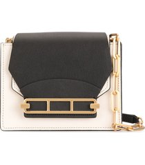 zac zac posen katie colour-block crossbody bag - white
