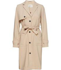ramona jacket trenchcoat lange jas beige modström