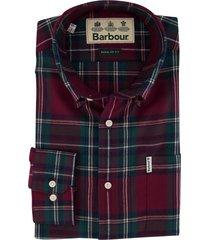 barbour overhemd geruit rood groen regular fit