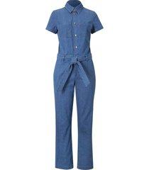 tuta in jeans cropped (blu) - john baner jeanswear