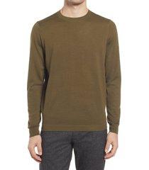 men's nordstrom coolmax crewneck sweater, size 2xl - green