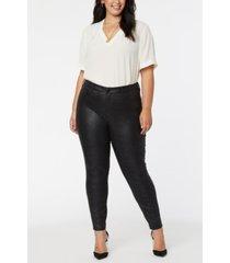 nydj women's plus size ami skinny pants in ponte knit