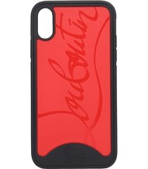 christian louboutin loubiphone iphone / ipad case in black pvc
