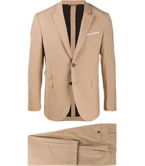 neil barrett travel slim-fit suit - neutrals