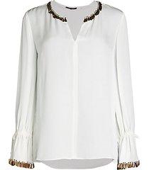 juliette embellished silk blouse