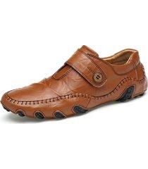 hombres guisantes zapatos oxford de conducción grande de pulpo