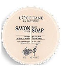l'occitane sabonete facial em barra figo e mel