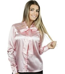 camisa pimenta rosada laço lola