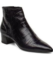 alba shoes boots ankle boots ankle boots with heel svart jennie-ellen