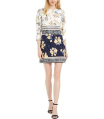 vince camuto petite patchwork-floral dress