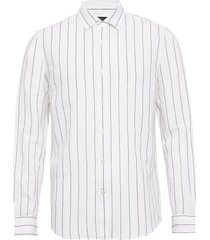 untucked slim-fit linen-cotton shirt skjorta casual vit banana republic