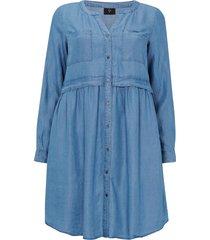 jeansklänning yocell l/s dress