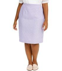 alfred dunner plus size nantucket pencil skirt