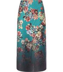 alice + olivia maeve floral print midi skirt