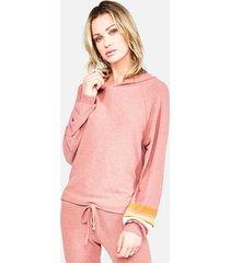 delaney pullover hoodie - m brick