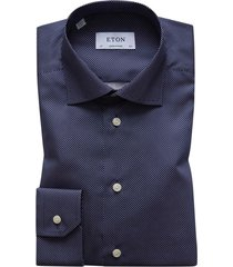 eton overhemd navy polka dot contemporary fit