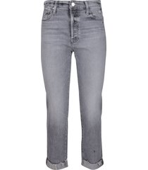 mother grey cotton jeans