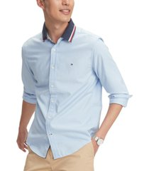 tommy hilfiger men's custom-fit stretch mayer oxford shirt
