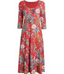 floral knit midi dress