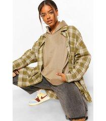 basic oversized hoodie, khaki