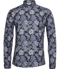 flower print shirt l/s skjorta casual blå lindbergh