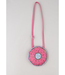 bolsa infantil donut redonda pink